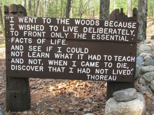 Walden Pond Concord MA Thoreau quote by jcsullivan24, via Flickr