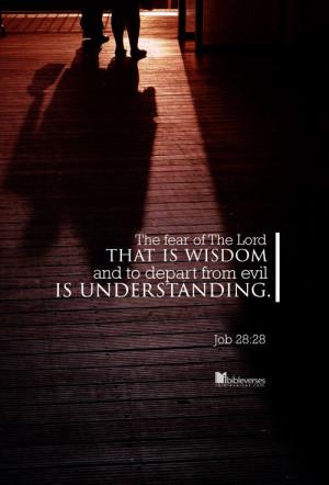 ... Job 28:28...http://ibibleverses.christianpost.com/?p=79837 #evil #