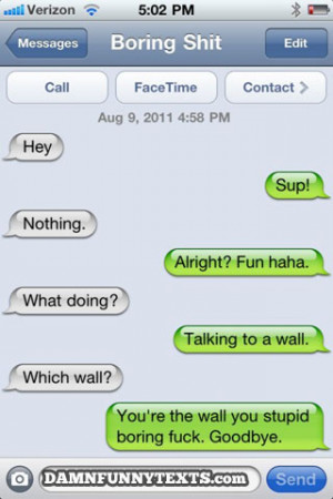 Texting With Boring People