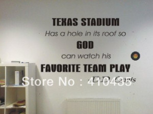 Texas Stadium Dallas Cowboys funny football famous quote Wall Art ...