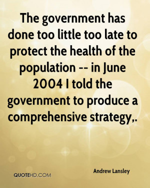The government has done too little too late to protect the health of ...