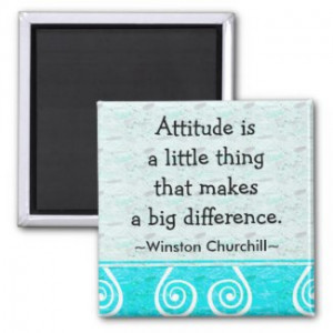 Churchill Quotation – Motivational Magnet by semas87
