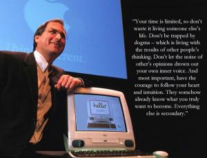 Steve jobs life quote
