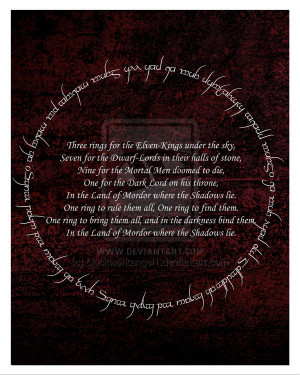 Lord of the Rings Quote Poster (2) by clockworkangel1
