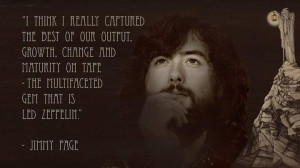Jimmy Page quote on Led Zeppelin
