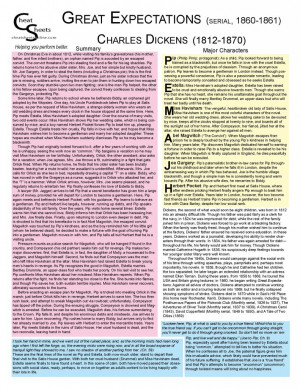 Great Expectations: Charles Dickens Cheat Sheet Study Guide