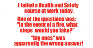 Funny Safety Quotes For Work