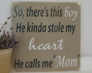 So There's This Boy, Wood Wall Art, Wood Sign, Nursery Art, Custom ...