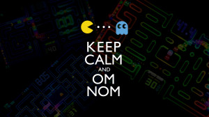 Text Pac Man Wallpaper 1920x1080 Text, PacMan, Keep, Calm, And