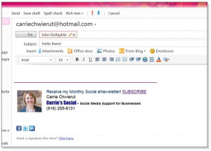 What do I love about it? Not only can I create a sharp-looking email ...