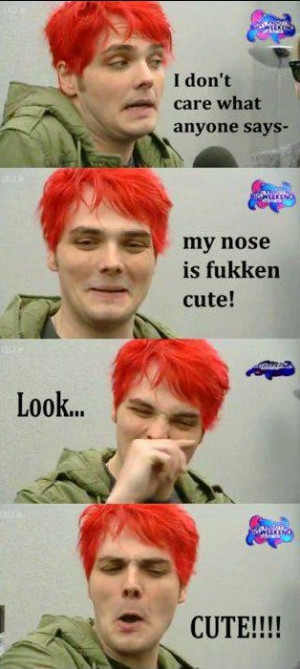 My Chemical Romance Cute Nose