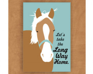 Horse Magnet Long Way Home 2 x 3