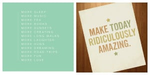 Start the day with positive sayings