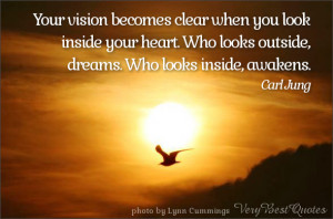 vision quotes, awakening quotes, heart quotes, Your vision becomes ...