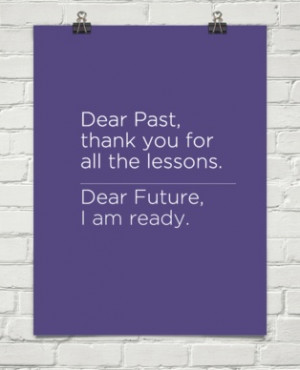 Goodbye past, hello future!