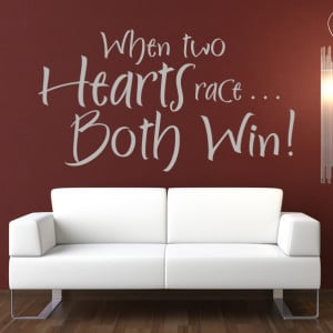 ... Hearts-Race-Both-Win-Wall-Stickers-Wall-Love-Quote-Art-Decal-Transfers