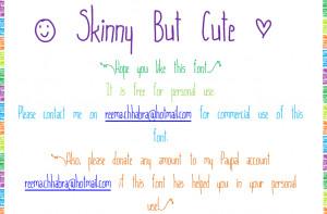 But Cute Dafont Skinny Font
