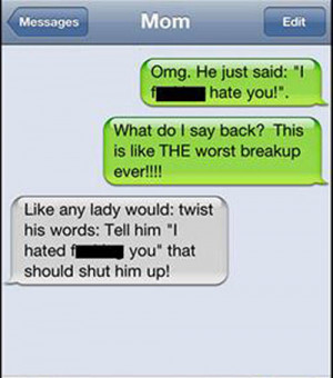 break up texts hate