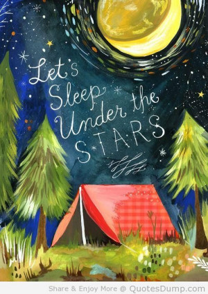 Let's Sleep Under The Stars - Camping Quote