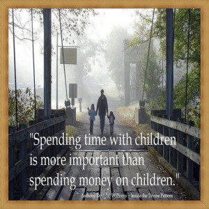 Spending time with children