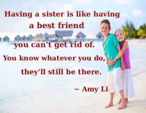 Whatever it is ....my sister did it! ~ Anonymous