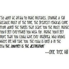 One Tree Hill quote More