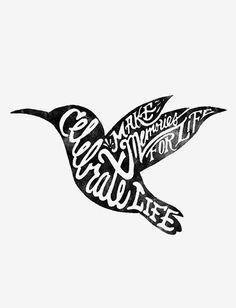 weeks' illustration is the silhouette of a hummingbird. Hummingbirds ...