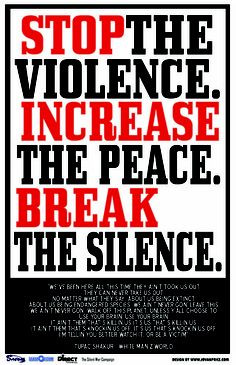 stop gang violence | Community Activist Campaigns Against Apathy ...