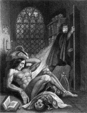 Description Frontispiece to Frankenstein 1831.jpg