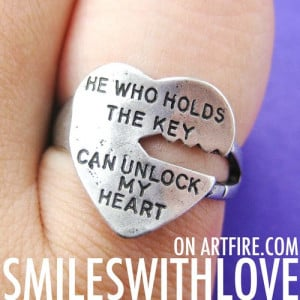 heart shaped love quotes key ring in silver it has an engraved quote ...