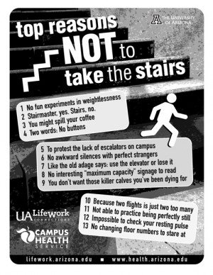 Take The Stairs Flier Graphic