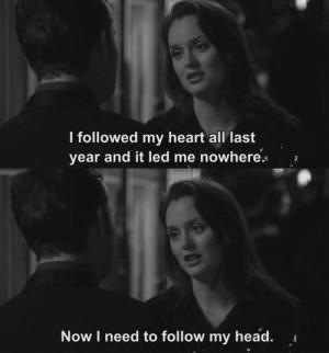 follow, gossip girl, head, heart, quote, text
