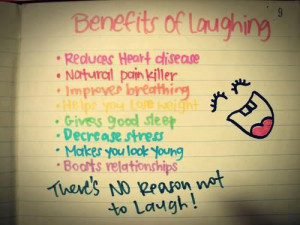 Benefits of laughing…