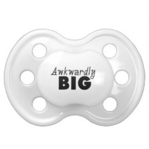 Awkwardly Big Funny Sayings BooginHead Pacifier