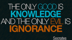 good and evil Socrates Picture Quotes