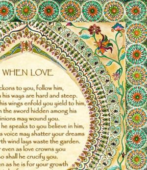 Kahlil Gibran On Love Poems