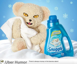 Snuggle bear's eyes with cat eyes, it's very unnerving.   Funny ...