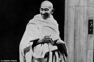 Mahatma Gandhi gave a speech in front of an audience of princes in ...