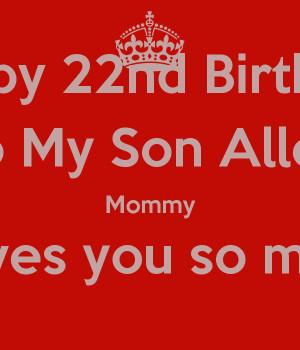 happy 22nd birthday son
