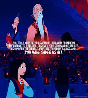 Emperor of China (Mulan) quote