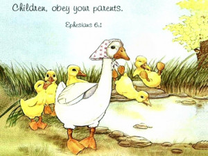 ... my sunday school student tomorrow as illustration to obey our parents