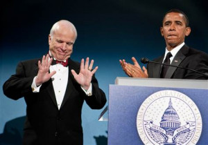 Obama offers bipartisan salute to McCain
