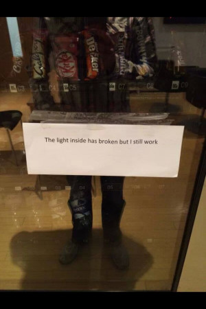 Great message from a vending machine