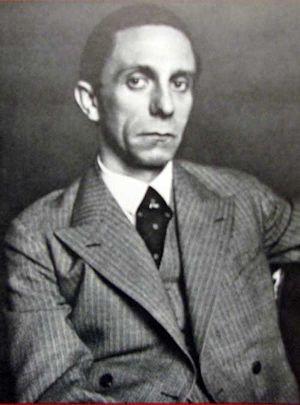 Joseph Goebbels, 1933 Portrait Photo Credit National Archives