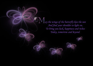 Butterflies with quote by timberwolf90