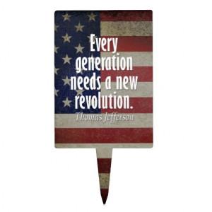 Thomas Jefferson Quote on Revolution Cake Topper