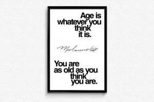 Muhammad Ali Inspirational Age Quote Poster Downloadable Digital JPG ...