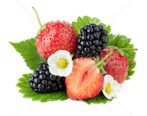 Ripe Blackberry Fruits With