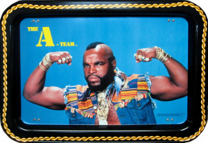Original 1983 Mr T quot The A Team quot Litho Tin Tray MCA SOLD