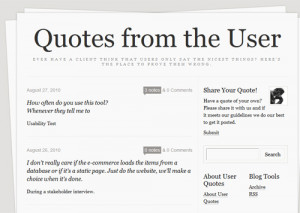 ... of the user by featuring quotes by users of various systems